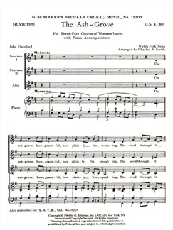 Arr. Charles N. Smith: The Ash Grove Books | Choral, SSA, Piano Accompaniment