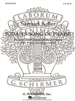 Samuel Adler: Judah's Song Of Praise Books | Choral, SATB, Piano Accompaniment