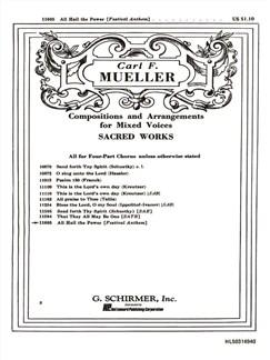 Arr. Carl F. Mueller: All Hail The Power Books | Choral, SATB, Organ Accompaniment