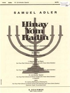 Samuel Adler: Hinay Yom Hadin - Uv'shofar Gadol Books | Choral, Tenor, SATB