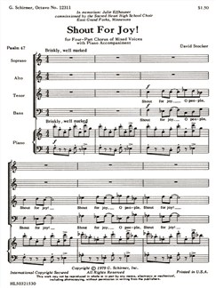 David Stocker: Shout For Joy! Books | Choral, SATB, Piano Accompaniment