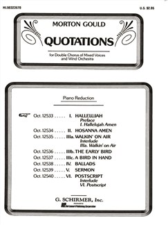 Morton Gould: Hallelujah Amen (From 'Quotations') Books | Choral, SATB, Piano Accompaniment