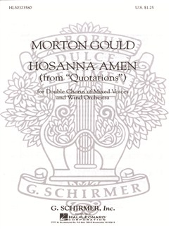 Morton Gould: Hosanna Amen (From 'Quotations') Books | Choral, SATB, Piano Accompaniment