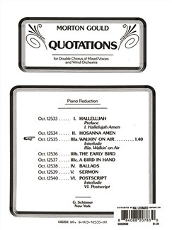 Morton Gould: Walkin On Air (From 'Quotations') Books | Choral, SATB, Piano Accompaniment