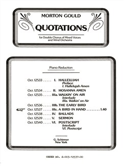 Morton Gould: Bird In Hand (From 'Quotations') Books | Choral, SATB, Piano Accompaniment