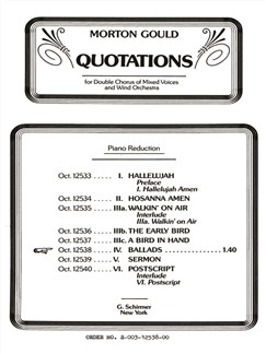 Morton Gould: Ballads (From 'Quotations') Books | Choral, SATB, Piano Accompaniment