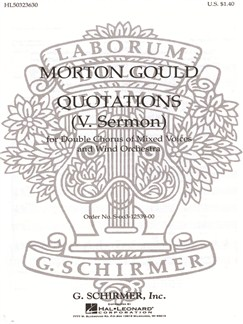 Morton Gould: Sermon (From 'Quotations') Books | Choral, SATB, Piano Accompaniment