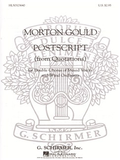 Morton Gould: Postscript (From 'Quotations') Books | Choral, SATB, Piano Accompaniment