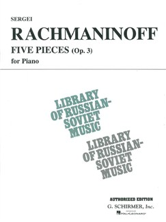 Sergei Rachmaninoff: 5 Pieces For Piano: Op. 3 (VAAP Edition) Books | Piano