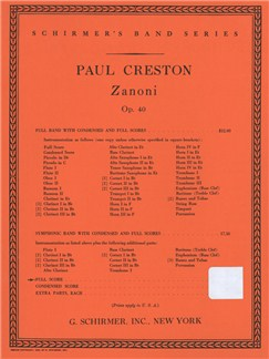 Paul Creston: Zanoni Op. 40 Books | Big Band & Concert Band