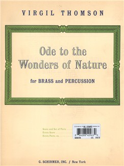 Virgil Thomson: Ode To The Wonders Of Nature - Brass & Percussion - Complete Set Books | Brass Ensemble, Percussion