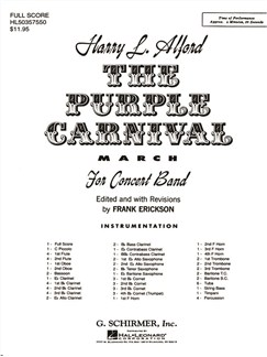 Harry L. Alford: The Purple Carnival Books | Big Band & Concert Band