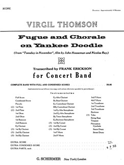 Virgil Thomson: Fugue And Chorale On Yankee Doodle - Full Score Books | Big Band & Concert Band