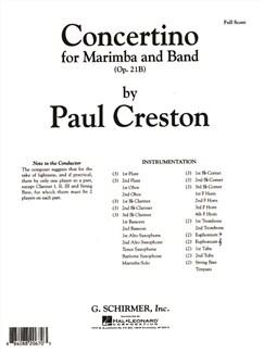 Paul Creston: Concertino Op.21B Books | Big Band & Concert Band, Marimba