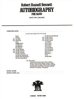 Robert Russell Bennett: Autobiography For Band - Part 2 (1916-1935) Books   Big Band & Concert Band