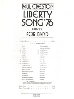 Paul Creston: Liberty Song '76 Op.107 Books | Big Band & Concert Band