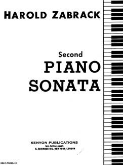 Harold Zabrack: Piano Sonata No. 2 Books | Piano