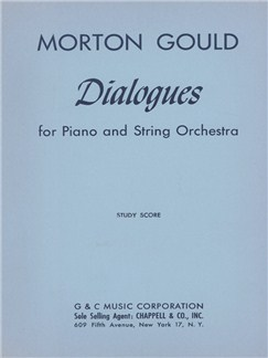 Morton Gould: Dialogues For Piano And String Orchestra Books | Piano Accompaniment, String Orchestra