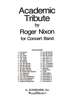 Roger Nixon: Academic Tribute Books | Big Band & Concert Band