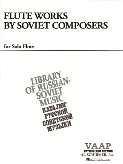 Flute Works By Soviet Composers Books | Flute, Piano Accompaniment