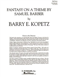 Barry E. Kopetz: Fantasy On A Theme By Samuel Barber Books | Orchestra