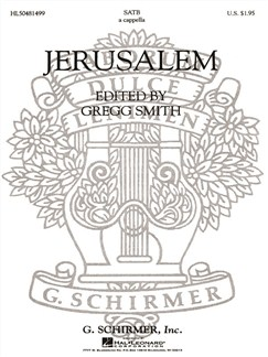 Ed. Gregg Smith: Jerusalem Books | Choral, SATB