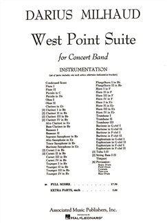 Darius Milhaud: West Point Suite - Full Score Books | Big Band & Concert Band
