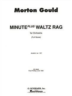 Morton Gould: Minute Plus Waltz Rag - Full Score Books | Orchestra