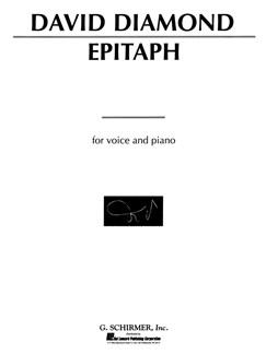 David Diamond: Epitaph Books | Voice, Piano Accompaniment