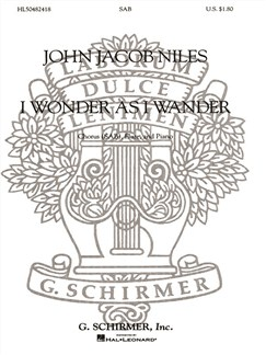 John Jacob Niles: I Wonder As I Wander (Arr. Keith Christopher) Books | Flute, SAB, Piano Accompaniment