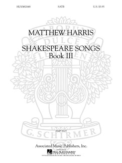 Matthew Harris: Shakespeare Songs Book 3 Books | SATB