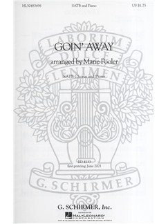 Marie Pooler: Goin' Away (SATB) Books | Piano Accompaniment, SATB