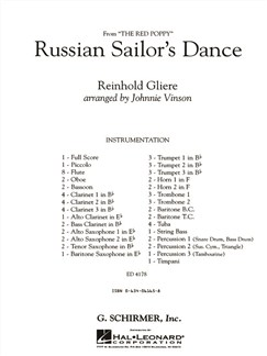 Reinhold Gliere: Russian Sailor's Dance - Gr3 Cb (Full Score) Books | Big Band & Concert Band