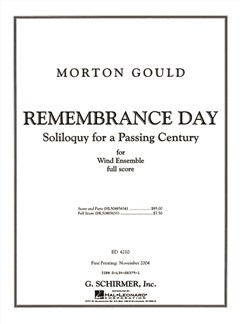 Morton Gould: Remembrance Day - Full Score Books | Wind Ensemble