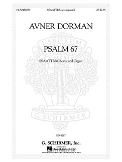 Avner Dorman: Psalm 67 Books | SATB, Organ Accompaniment