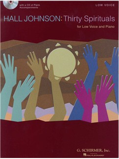 Hall Johnson: Thirty Spirituals For Low Voice (Book/CD) Books and CDs | Low Voice, Piano Accompaniment