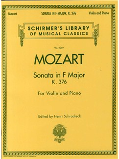 W.A. Mozart: Sonata In F For Violin and Piano K.376 Books | Violin, Piano Accompaniment