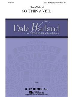 Dale Warland: So Thin A Veil Books | Choral, SATB