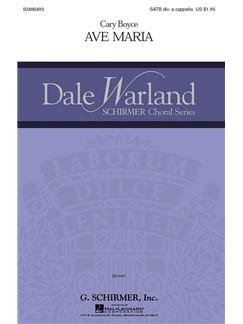 Cary Boyce: Ave Maria Books | Choral, SATB