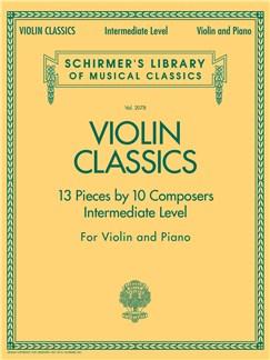 Schirmer's Library of Musical Classics: Violin Classics - Intermediate Level Livre | Violon, Accompagnement Piano