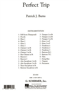Patrick J. Burns: Perfect Trip - Full Score Books | Orchestra