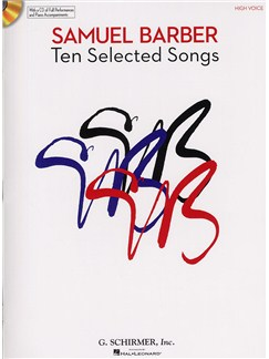 Samuel Barber: Ten Selected Songs - High Voice (Book and CD) Books and CDs | High Voice, Piano Accompaniment