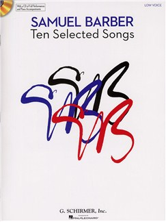 Samuel Barber: Ten Selected Songs - Low Voice (Book and CD) Books and CDs | Low Voice, Piano Accompaniment