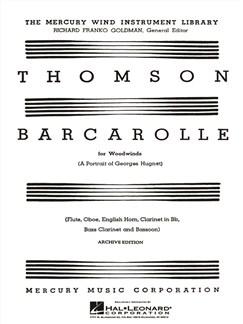 Virgil Thomson: Barcarolle (A Portrait Of Georges Hugnet) Books | Wind Instruments