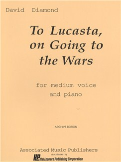 David Diamond: To Lucasta (On Going To The Wars) Books | Choral, Medium Voice, Piano Accompaniment