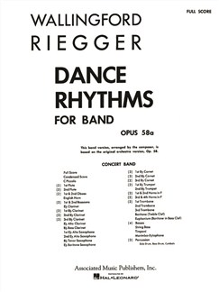 Wallingford Riegger: Dance Rhythms For Band, Op. 58 Books | Big Band & Concert Band