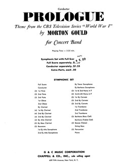 Morton Gould: Prologue (From CBS TV Production World War I) - Conductor's Score Books | Big Band & Concert Band
