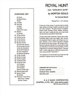 Morton Gould: Royal Hunt Books | Big Band & Concert Band