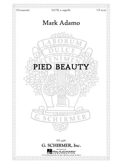 Mark Adamo: Pied Beauty Books | Choral, SATB