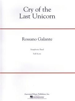 Rossano Galante: Cry Of The Last Unicorn Books | Big Band & Concert Band